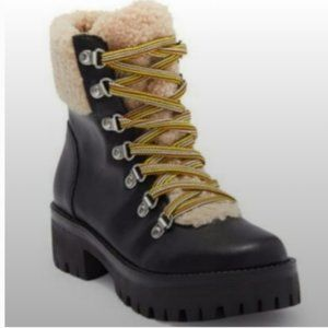 Steve Madden Aniko Faux Fur Lace-Up Boots
